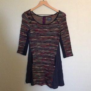 Maeve Intricate Knit Sweater Dress size xs